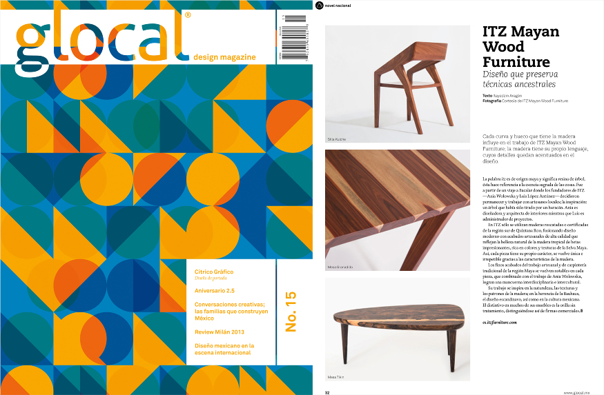 glocal design magazine itz mayan wood furniture